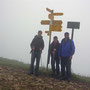 Auf dem Soliat, dem höchsten Punkt des Creux du Van. Wir wollten überhaupt nicht die wunderbare Aussicht geniessen