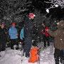 Märchenhafte Bedingungen auf dem Hellchöpfli am Donnerstag Abend 7. Februar 2013