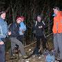 Mit Gastwanderer Iwan unter stürmischen Bedingungen auf der Rüttelhornüberquerung am 31. Januar 2013