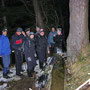 Der verirrte Nebentrupp stösst zum Hauptrupp unterhalb des Bettlachstocks am Donnerstag 5. Dezember 2013