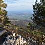 immer ein einmaliges Erlebnis: der Ausblick von den Chamben ins Mittelland!