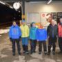 Gruppenfoto in Gänsbrunnen, eine Sekunde vor Mitternacht