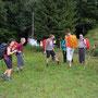 Erster Marschhalt auf der Höhe Lissersbergli