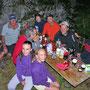 Gemütlicher Grillabend im Hüttli bei Bruno und seinen Enkelinnen am Donnerstag, 9. August 2012