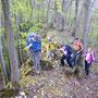 Oberhalb dem Giesserwägli auf dem Wannefluh Ostgrat im Aufstieg zur Schwängimatt am Donnerstag, 26. April 2012
