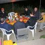 Grillplausch im Casita Wynau nach einer stürmischen Aare-Flachwanderung am 20. Juni 2013
