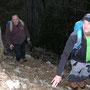 Alex und Toni setzen sich zu hinterst freiwillig dem Steinschlagrisiko aus