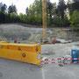 Start zur Donnerstagswanderung am 17. April 2014. Hier ensteht die Talstation zur neuen Weissenstein-Gondelbahn