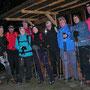 Gruppenbild vor dem Berghaus