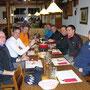 Mit den beiden Gastwanderern Laszlo und Arpad im Vorderbalmberg am Donnerstag 20. Januar 2014