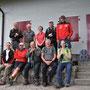 Die Übernachtungs-Crew am Morgen vor der Rundwanderung