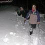 Extremkampfwandern auf den Chambenflühen am Donnerstagsabend 4. Februar 2010 mit zweieinhalb Stunden harter Arbeit