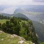 Vom Dent de Vaulion hat man eine herrliche Aussicht nach allen Seiten. Auch zu Lac de Joux und Lac Brenet