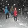 ab Vorderem Hofbärgli setzt starker Schneefall ein
