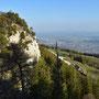 Blick zum Vorgipfel des Dilitsch-Chopfs und Hinter Weissenstein