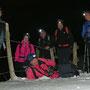 Gruppenbild im Abstieg ohne Nebel unterhalb der Buechmatt