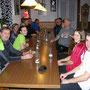Nach einer vaterländischen Sumpfwanderung (den Wanderleiter kostets beinahe den Job) geniessen wir am Donnerstag 18.12.2014 das Weihnachtsfondue im Vorderbalmberg