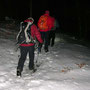 Auf dem Grat liegen noch einige Zentimeter Schnee