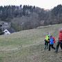 """Auf dem ehemaligen Skilift """"Schnarz"""" Gelände, kurz vor Tourende"""