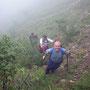 Donnerstagswanderung am 30. August 2007 im Nebel in der weglosen Geröllhalde unter der Rötifluh