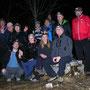 Gruppenfoto der Weihnachtsfondue-Kampfwanderer auf dem Hellchöpfli