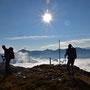 Fantastischer Ausblick auf Nebelmeer und Tessiner Berge