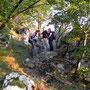 Mit dem Kampfwandernachwuchs auf der Krete des Kluser Roggens am Donnerstag, 15.09.2011