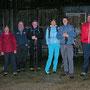 Gruppenfoto beim Rinderstall unterhalb Hinterweissenstein