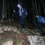 Felsstufe vor dem Waldaustritt