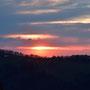 Sonnenuntergang zwischen Oberdörfer und Backi