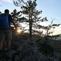 Sonnenuntergang durch die Bäume