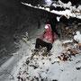 """auch die Jüngste hinterlässt eine """"Badwanne"""" im Schnee"""