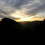 Prächtiger Sonnenuntergang hinter dem Rüttelhorn, beobachtet auf dem Schilt am Donnerstag 2. September .2010