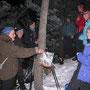 Gipfelrast auf der Wannenfluh am Donnerstag, 24. Januar 2013