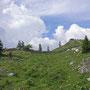 Im steilen Aufstieg zur SAC Hütte Cabane du Cunay