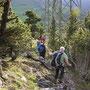 In den Gipfelfelsen auf dem Rüttelhorn
