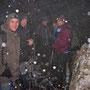Windgeschützt mit zwei slowakischen Kollegen in der Stiegelos. Im Nesselboden ist anschliessend Schneesturm angesagt am Donnerstag 27. Februar 2014