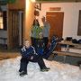 Polina und Roly mit dem Schlittelteam