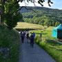 ausserhalb Günsberg biegen wir bergwärts ab