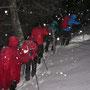 Kurz vor der Buechmatt steigt die Schneehöhe auf 50cm an