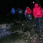 Beim Start am Chesselbach nützen wir eine kleine Regenpause
