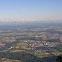 Blick vom Balmfluhchöpfli Richtung Emmenspitz am alljährlichen Grilabend vom Donnerstag, 3, Juli 2014