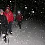 Schneefall setzt ein in der Brunnmatt