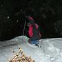 Kampfwandergelände pur! Der Aufstieg auf die Chambenflühe muss erkämpft werden am Donnerstag Abend 9. Februar 2012