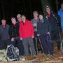Marschpause und Gruppenfoto im Rüschgraben