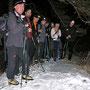 Rast beim Thomassenflüehli im Aufstieg zur Teuffelen am Donnerstag 27. Januar 2011