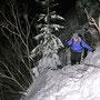In der berüchtigten Gipfelwächte kurz unterhalb der Rötifluh auf der Donnerstagswanderung vom 12. Januar 2012