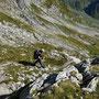 Der Wanderleiter enteilt uns im Abstieg