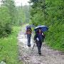 Kurz vor dem Col zu Marchairzuz erwischt uns der zweite Viertelstundenregen unserer Tour