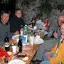 Donnerstagswanderung zum Grillplausch im Hüttli am 8. September 2002. Der Marillenbrand lässt grüssen!